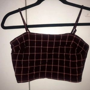 Forever 21 Pink and Purple Plaid Crop top
